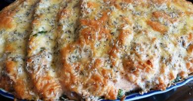 Семга с голубым сыром